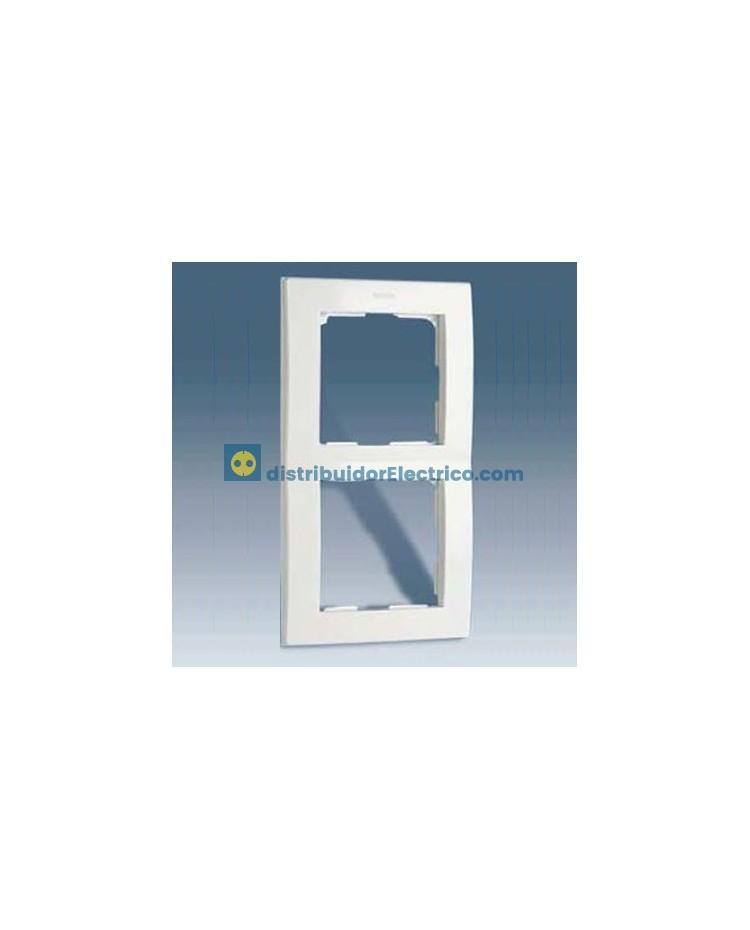 28630-30 Placa 3 elementos 86x228 mm. Blanca