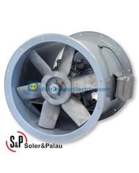 Ventilador Helicoidal Tubular THGT/2-400-6/-1,1 Código 300ºC/2h camisa corta Soler&Palau