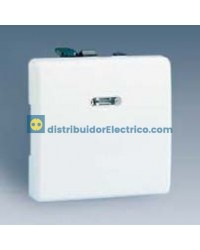 27104-65 - Interruptor unipolar, con luminoso incorporado, 10 AX 250 V color blanco