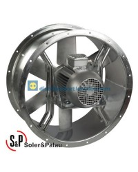 Ventilador Helicoidal Tubular THGT/2/4-400-6/-1,5/0,37 Código 300ºC/2h camisa corta Soler&Palau