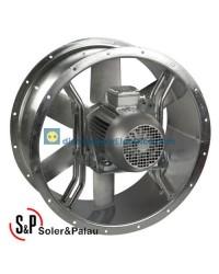 Ventilador Helicoidal Tubular THGT/4/8-630-6/-1,5/0,25 Código 300ºC/2h camisa corta Soler&Palau