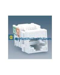 75542-30 Conector RJ-45 AVYA color blanco