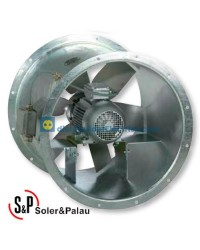 Ventilador Helicoidal Tubular THGT/4/8-560-6/-1,5/0,25 Código 300ºC/2h camisa larga Soler&Palau