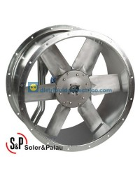 Ventilador Helicoidal Tubular TGT/4-800-3/-4 Código Camisa corta Soler&Palau