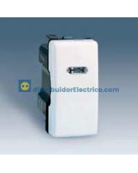 27104-62 - Interruptor unipolar, con luminoso incorporado 10 AX 250 V color marfil