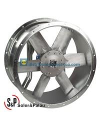 Ventilador Helicoidal Tubular TGT/6-560-6/-0,37 Código Camisa corta Soler&Palau