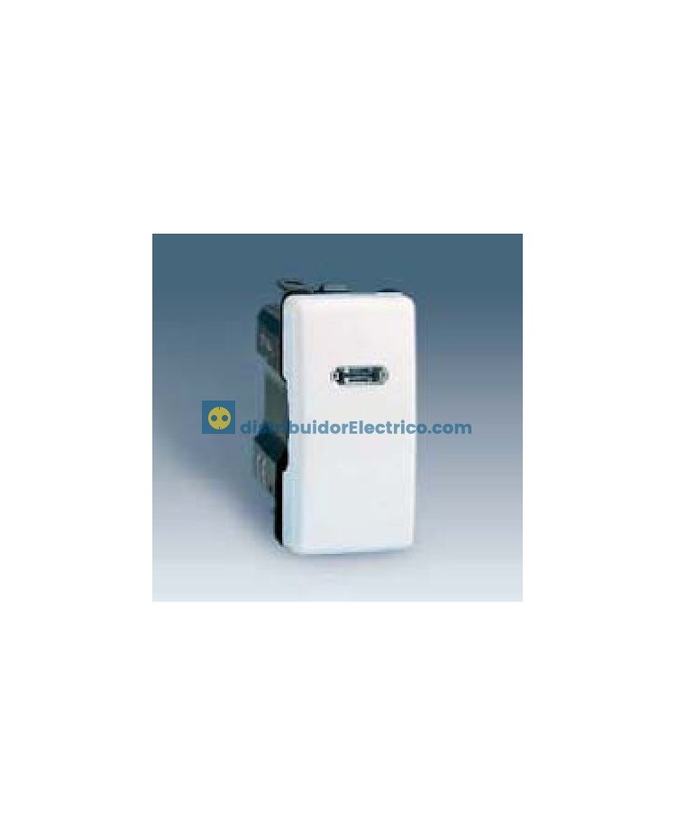 27204-61 -Conmutador, con luminoso incorporado, estrecho 10 AX 250 V color marfil