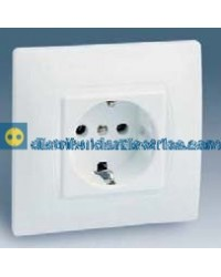 27462-65 Enchufe 2P T.T. lateral Schuko monobloc color blanco