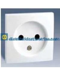 28067-30 Tapa enchufe 2P + seguridad Blanco 16 A 250V