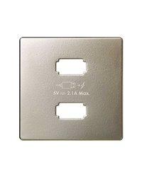 Simon 8211096-034 Placa cargador 2xUSB 5Vdc 2.1 tipo A