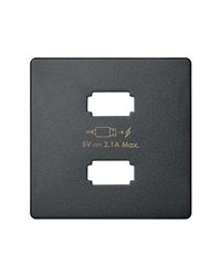 Simon 8211096-038 Placa cargador 2xUSB 5Vdc 2.1 tipo A