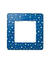 Simon 8200610-221 Marco 1 Elem. Estrellas Azul Índigo