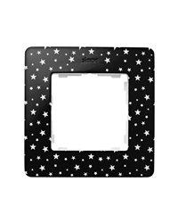 Simon 8200610-222 Marco 1 Elem. Estrellas Negro