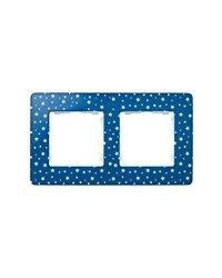 Simon 8200620-221 Marco 2 Elem. Estrellas Azul Índigo