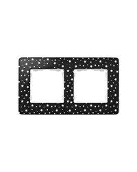 Simon 8200620-222 Marco 2 Elem. Estrellas Negro