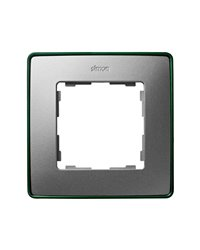 Simon 8201610-253 Marco 1 Elem. Aluminio Frio Base Verde