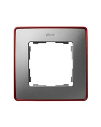 Simon 8201610-255 Marco 1 Elem. Aluminio Frio Base Roja