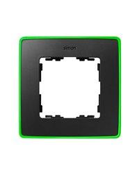 Simon 8201610-260 Marco 1 Elem. Grafito Base Verde Fluor