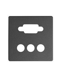 Simon 8200092-038 Placa Para Conector Vga + 3Rca