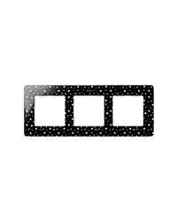Simon 8200630-222 Marco 3 Elem. Estrellas Negro