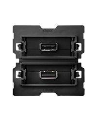 Simon 10000562-039 Conector 2Xusb 2.0 A Hembra 2M