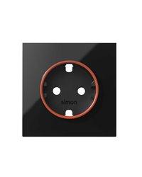 Simon 10000037-138 Tapa con aro rojo para base de enchufe schuko