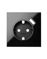 Simon 10000049-138 Tapa para base schuko con cargador USB