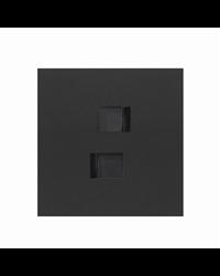 Simon 10020111-238 Kit front 1 elemento 2 tomas RJ45