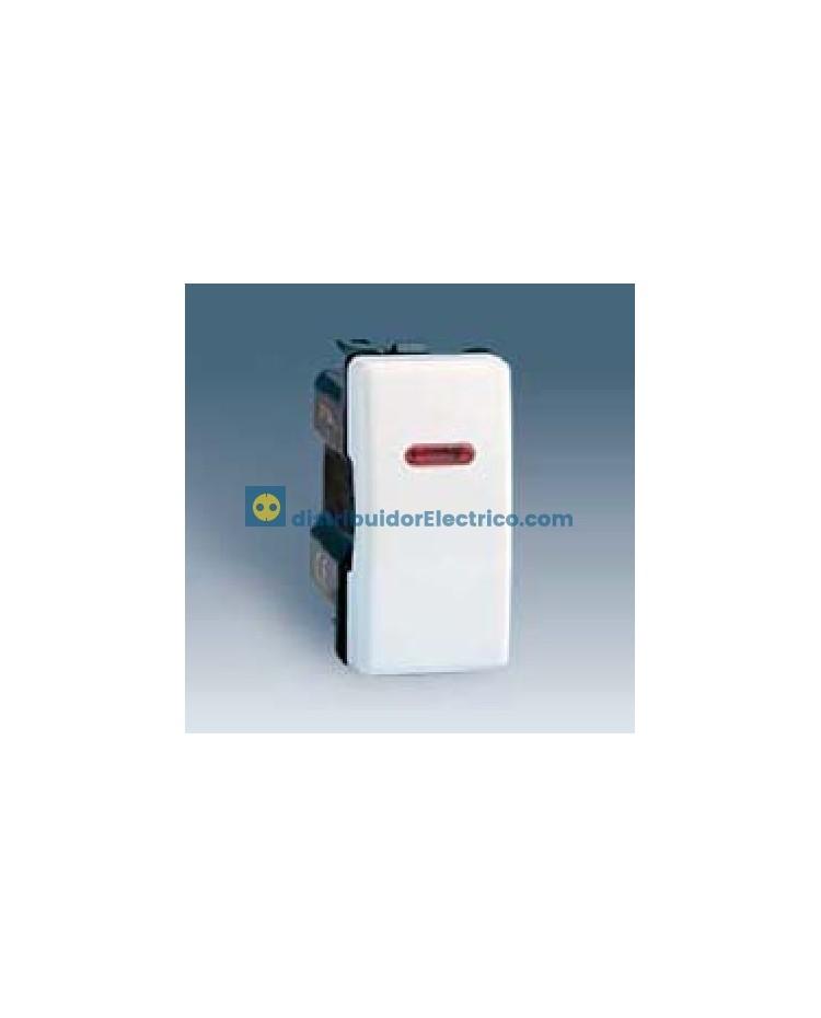 27102-64 - Interruptor unipolar con piloto incorporado, estrecho 10 AX 250 V color blanco