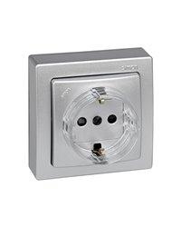 Simon 73432-53 Base Schuko Monobloc (Aluminio)