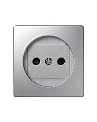 Simon 73040-63 Tapa Base Bipolar Aluminio Con Obturador