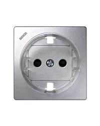 Simon 73041-63 Tapa Base Schuko Aluminio Con Obturador