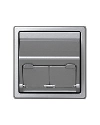 Simon 73086-63 Adaptador Para 2 Conectores Telefónicos Ó Informáticos Aluminio