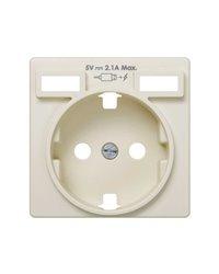 Simon 8200049-031 TAPA PARA BASE DE ENCHUFE SCHUKO CON 2 BOCAS CARGA USB 2.1A TIPO A