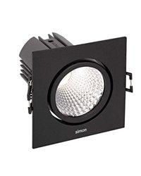 Simon 70324038-284 Downlight 703.24 Orientable Cuadrado NW Spot Negro