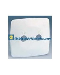 32053-31 Placa toma R-TV Color Blanco