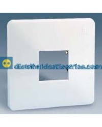 32612-31 Placa protectora 1 elemento con abertura central color Blanco