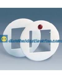 32614-35 Suplemento abertura central cuadrada con visor rojo color Blanco