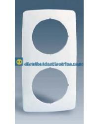 32620-31 Placa 2 elementos con aberturas centrales circulares color Blanco