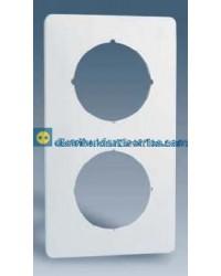 32632-31 Placa protectora 3 elementos con aberturas centrales circulares color Blanco