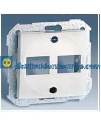 28089-30 Adaptador 2 conectores RJ-45 AMP Blanco