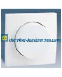 28054-30 Tapa + botón, regulador elec. 500 W Blanco