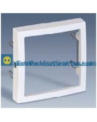 28088-30 Adaptador elementos 45x45 mm. Blanco