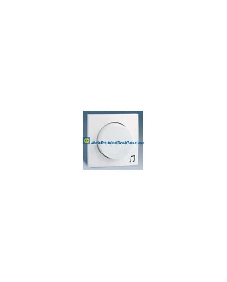 28055-30 Tapa+ botón, regulador música ambiente Blanca