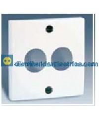 28082-30 Tapa toma altavoces estéreo Blanca