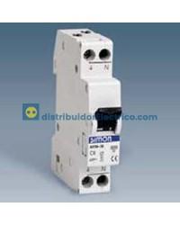68706-56 - Interruptor automático magnetotérmico 6 KA 6A, Polos 1+N, tecla negras.