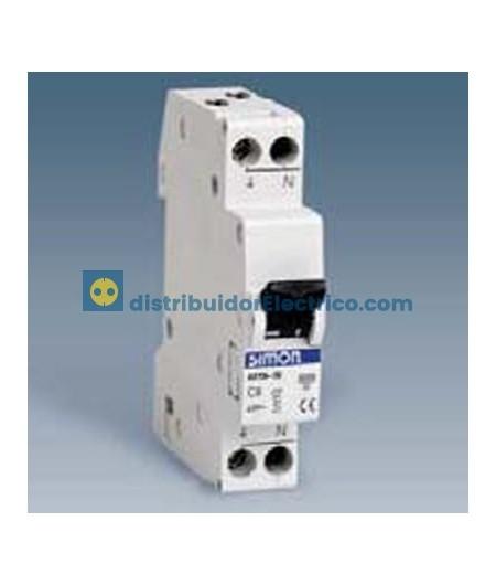 68710-56 - Interruptor automático magnetotérmico 6 KA 10A, Polos 1+N, tecla negras.