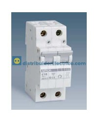 68206-31 - Interruptor automático magnetotérmico 6 KA 6A, Polos 2, teclas gris.