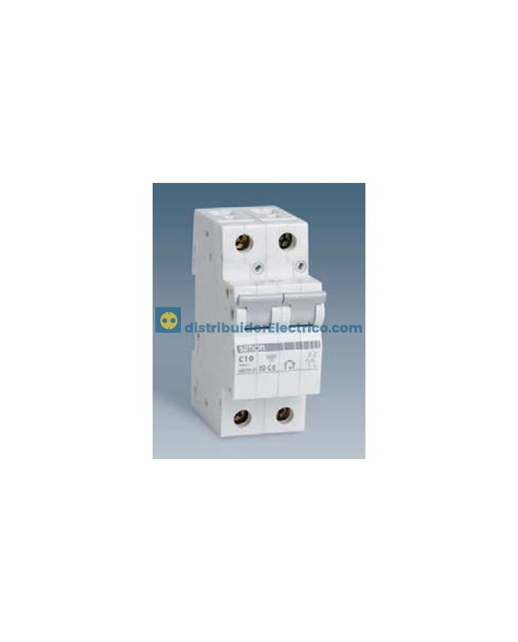 68210-31 - Interruptor automático magnetotérmico 6 KA 10A, Polos 2, tecla gris.
