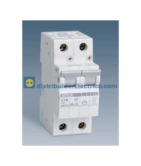 68225-31 - Interruptor automático magnetotérmico 6 KA 25A, Polos 2, tecla gris.